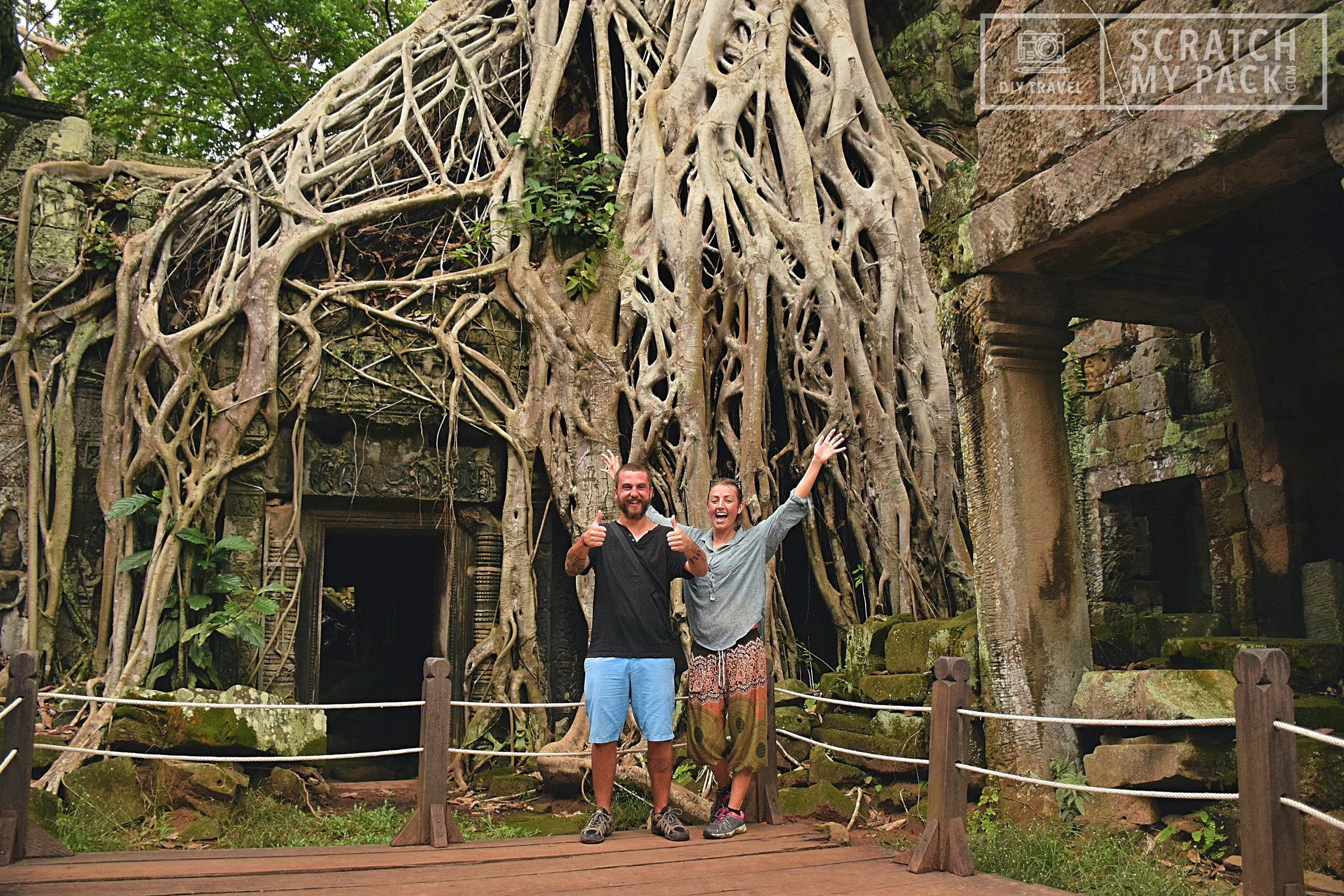 At the famous Tomb Raider Temple - Angkor Tom