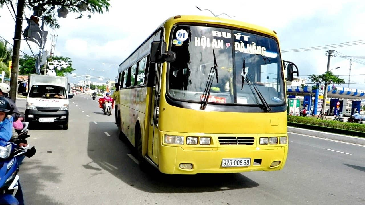Local Bus -  There is a yellow local bus that runs not only through the city of Da Nang, but to and from Da Nang and Hoi An.