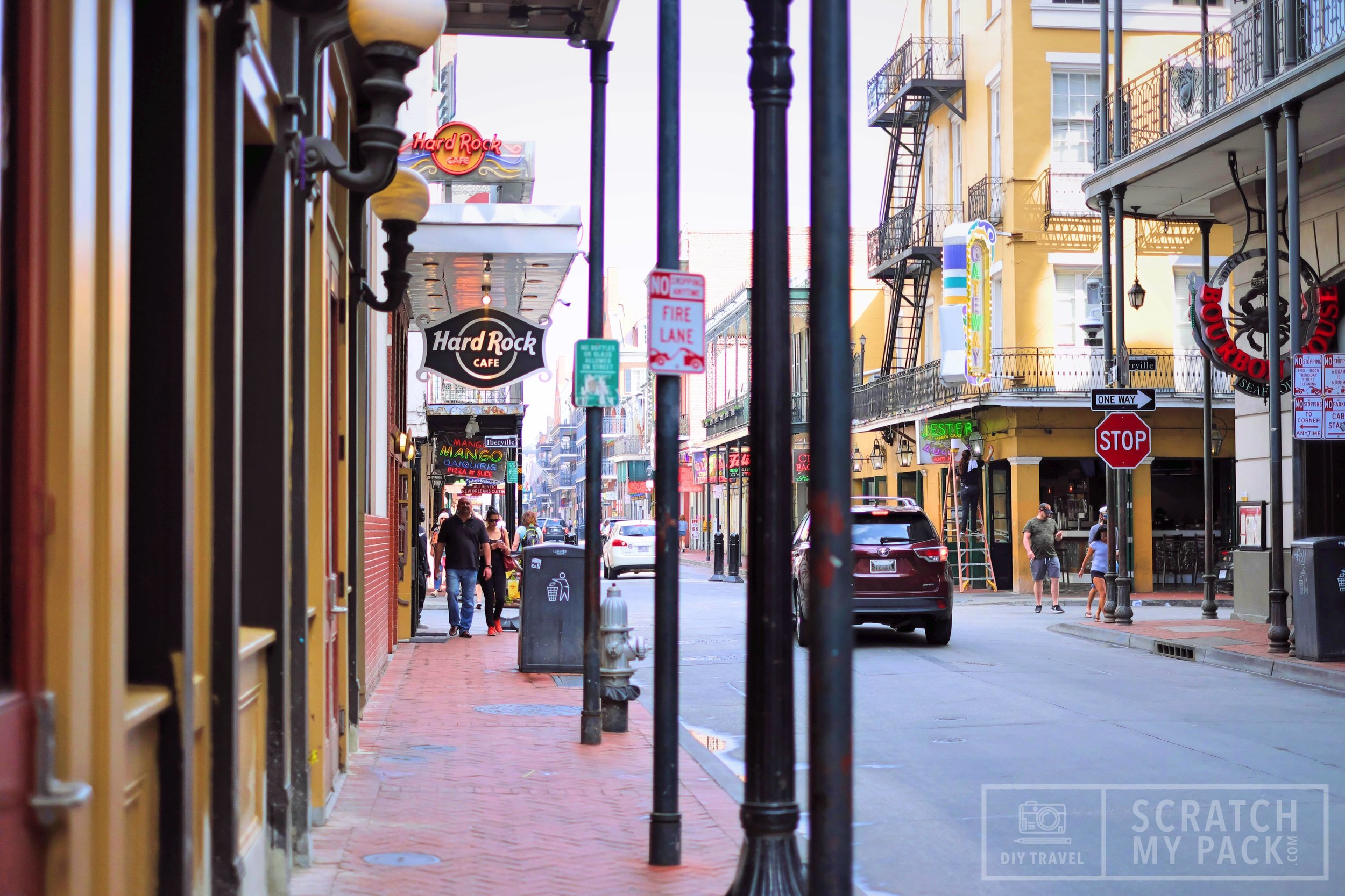 A view down the French Quarter