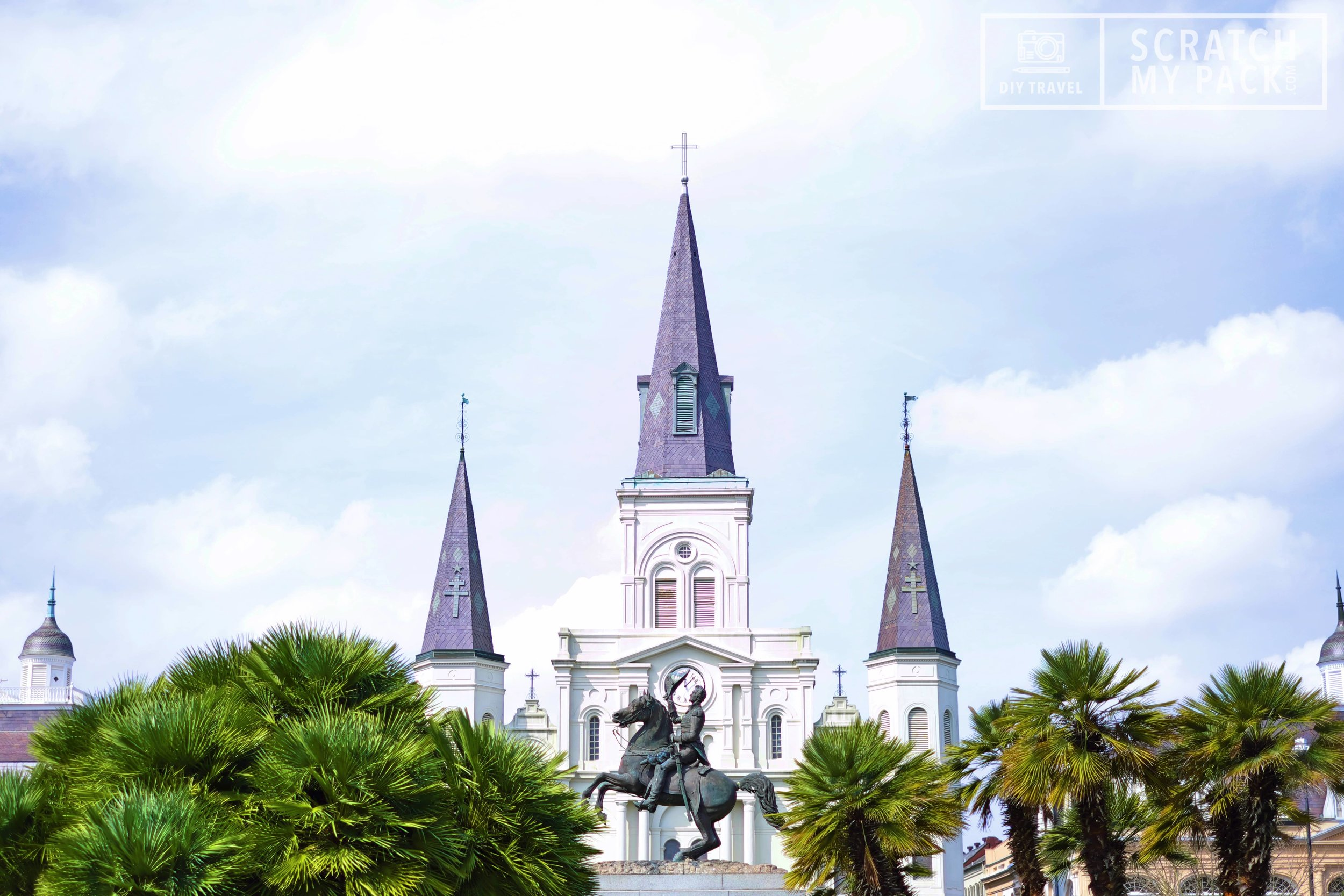 Jackson Square  -  Free to visit -  Jackson Square is a historic park in the French Quarter of New Orleans. It was declared a National Historic Landmark in 1960, for its central role in the city's history, and as the site where in 1803 Louisiana was made United States territory pursuant to the Louisiana Purchase. Nowadays the square is filled with live musicians, art, street performers, horse-drawn carriages, and food carts.