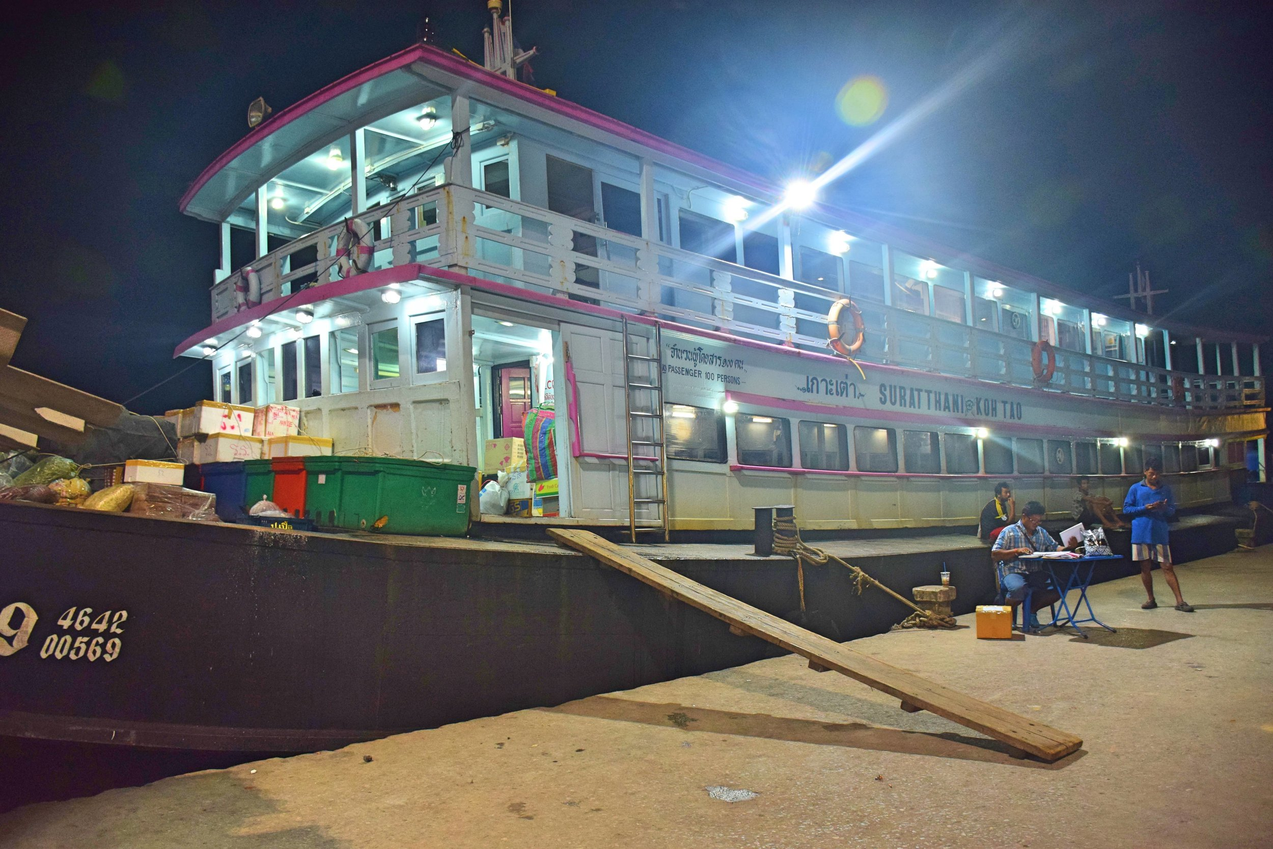 Overnight boat from Suratthani to Koh Tao