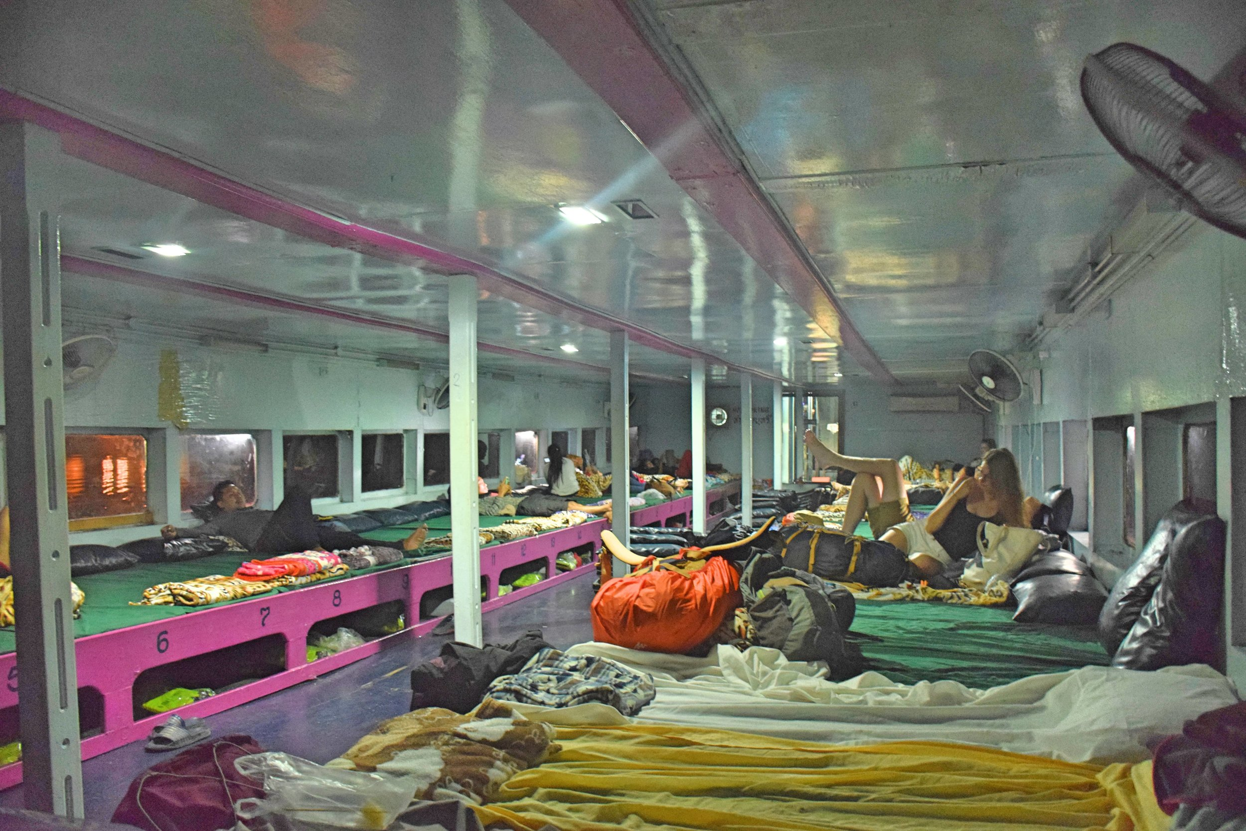 Passenger sleeping quarters on the boat