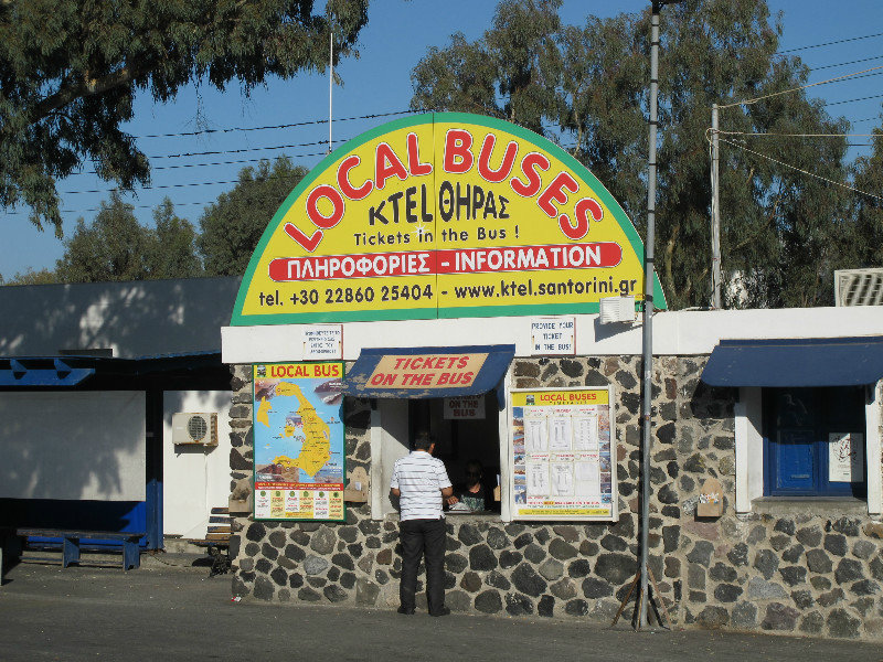 Buses  - There are 23 buses owned by KTEL (the local bus company on the island) that can take you anywhere on the island. Just head to the bus stop in the town that you are in, and wait for your bus. Or you can see a timetable  here .