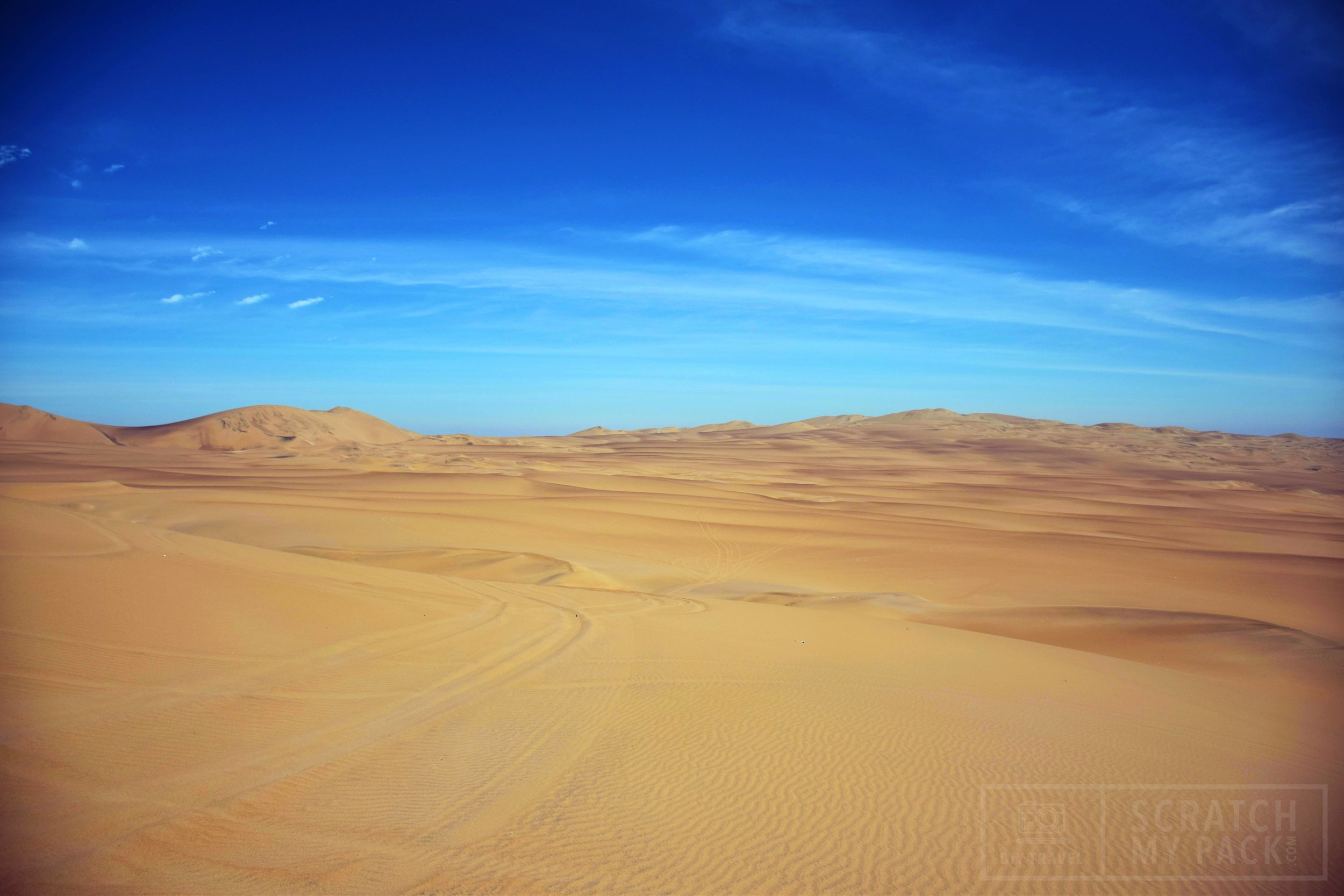 The Dunes  -  Cost $20 if you don't book at Bananas Hostel -  Spend a few hours taking a Dune Buggy ride and either sliding down on a sled or sandboarding down 5-6 massive dunes. Make sure to take water, sunblock, tennis shoes, and a a plastic bag for your camera.