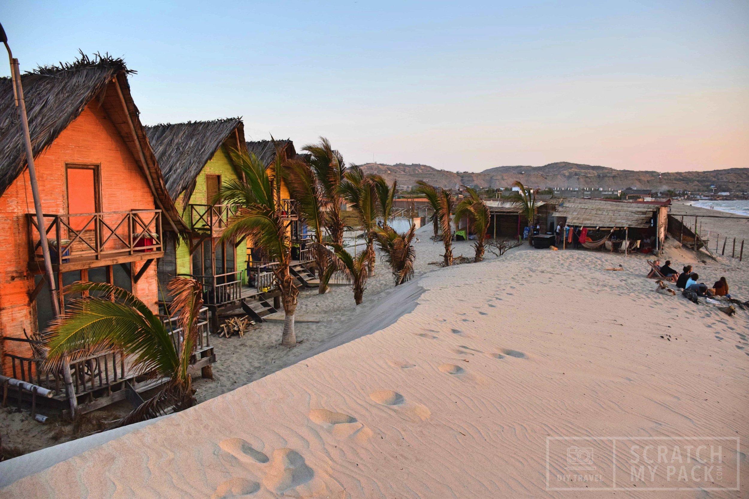 The Misfits beach hostel in Mancora, Peru