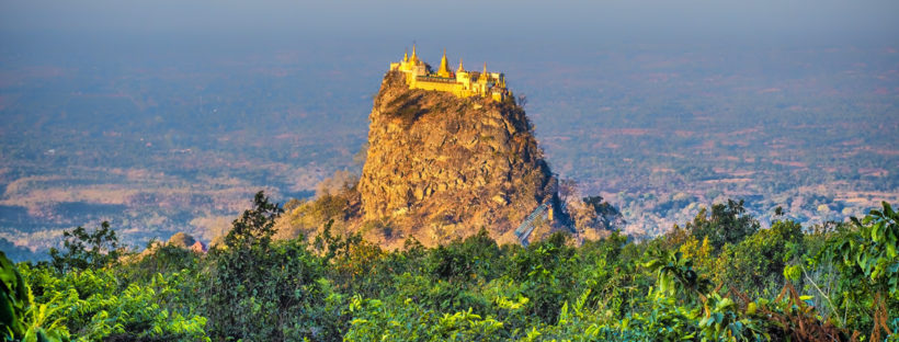 Mount Popa: An ancient volcano with a Buddhist monastery at its peak. - (Photo Credit:  Atlas & Boots )