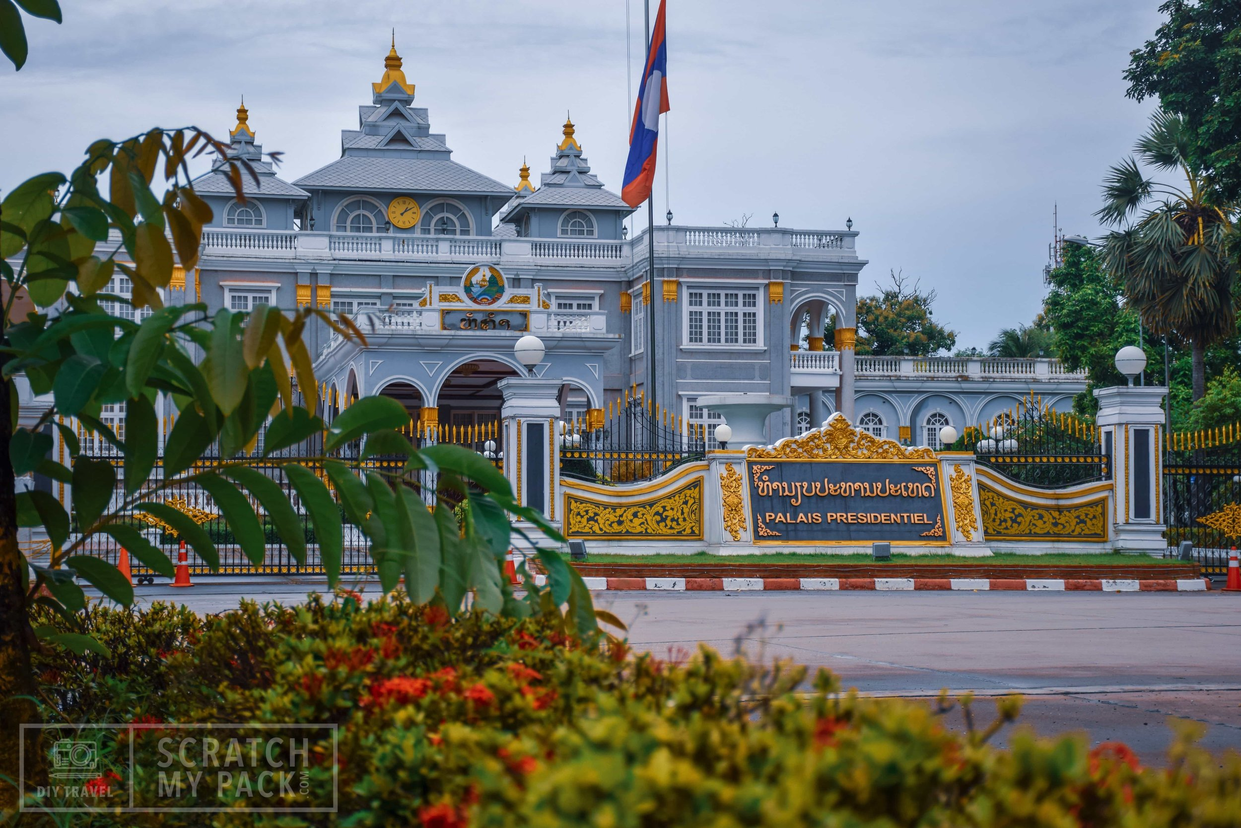 Vientiane: The Presidential Palace is a beautiful palace. Directly down the road from the Arc or Vertical Runway, you cant miss it! If you are lucky you can even get inside for a tour.