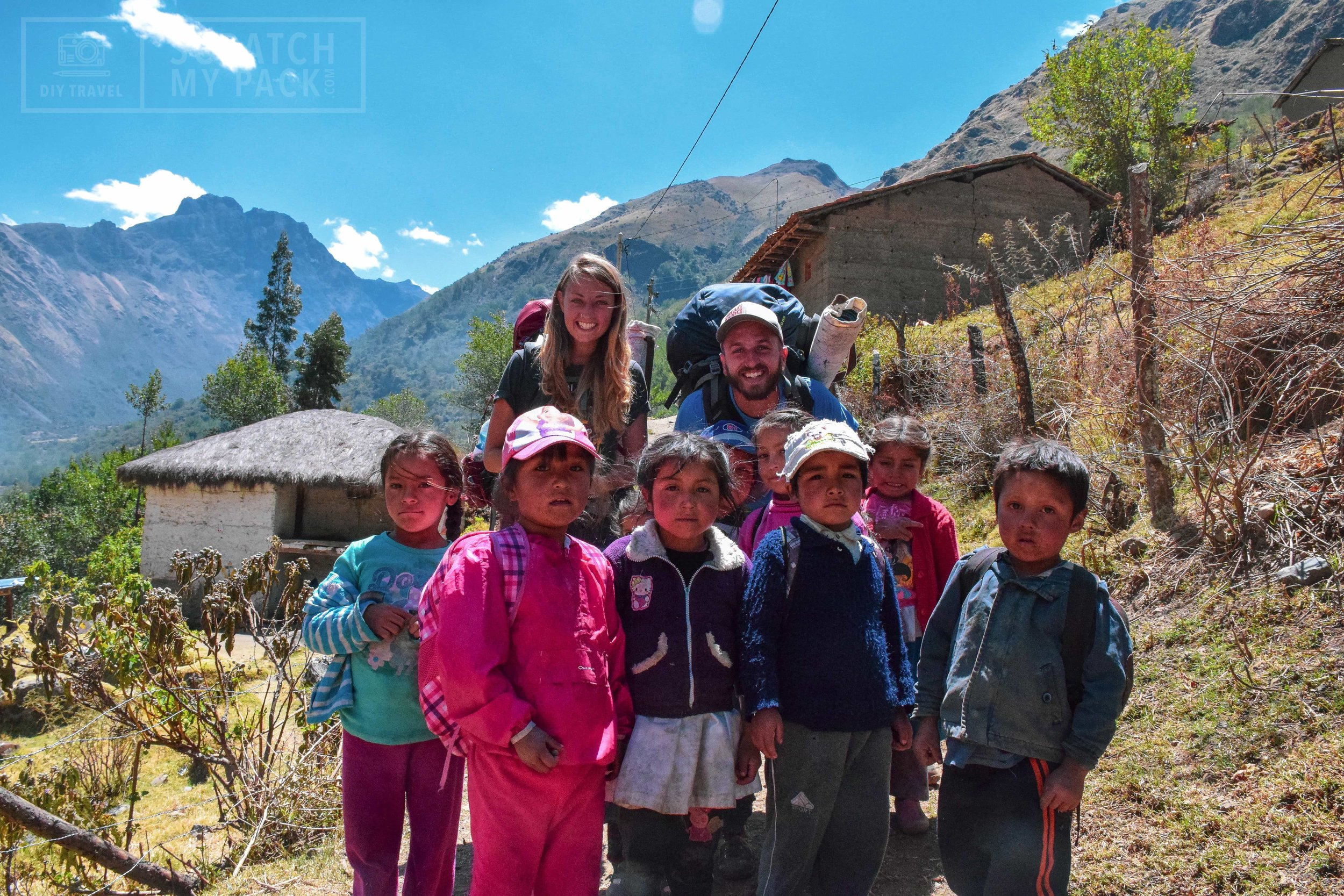 Local kids at the start of our trek