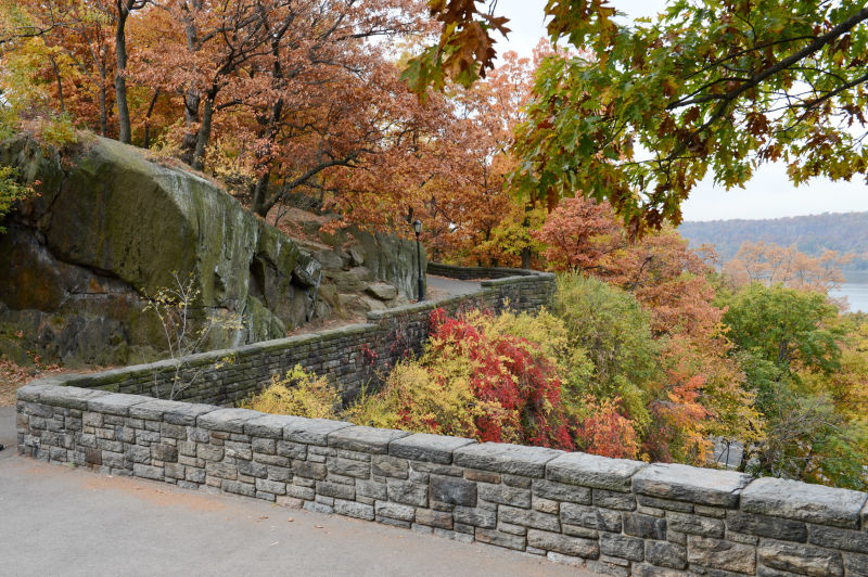 Fort Tryon  -  Cost $0.25 -  This truly off the beaten path park is way uptown on 191st. Bring your hiking boots, because these hills will rock you. The park is home to The Cloisters Museum, which is entirely donation based entry (pay 25cents, if you'd like) and specializes in medieval art and architecture. Oh, the museum itself is also inside a giant castle. Seriously, it's great.
