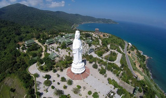 DA NANG - Lady Buddha   - Free to visit - Built in 2010,  this is the tallest Buddha statue in Vietnam and is located on Son Tra Peninsula in the northern part of Da Nang. It has a height of 67m and has 17 floors in the statue lap, each floor has an altar with 21 Buddha statues which have different shapes, facial expression and posture.