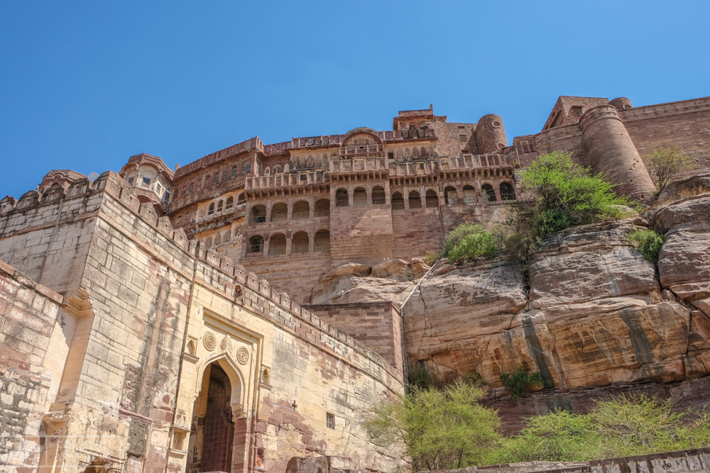 Mehrangarh Fort and Museum  -  600INR entrance ticket + 100INR camera fee -  This is the second largest fort in India and most impressive as far as we are concerned. This fort still has many rooms adorned with the same gems and furniture from the last 100 years and still has an armory, women's quarters, and museum featuring jewels, ancient paintings and much more. Many films, such as Batman: A Dark Knight Rises were filmed in part here. A must see!