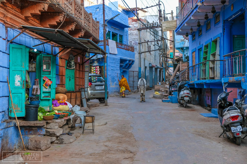 The Blue City  - Most people (including us) think the entire city of Jodhpur is blue when they first arrive. Well it is actually just a small part of the city which is located on the other side of the fort from where you will be staying (most likely). Take a half day and go explore these beautiful streets. The contrasting colors are unreal and make it easy for a compelling photo.