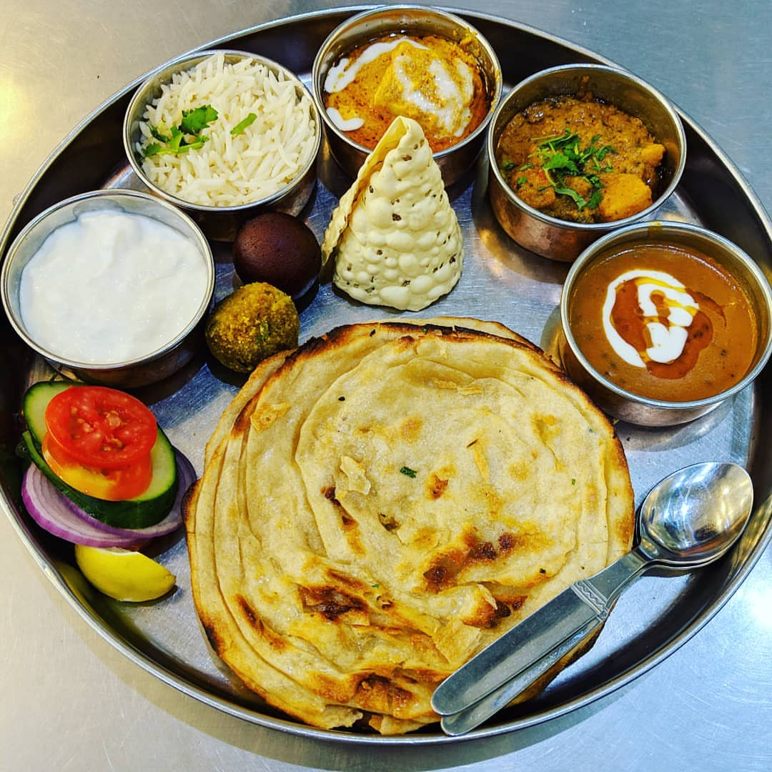 Gypsy Restaurant  - A well known restaurant in the city made famous for its Thali. Thali is typical Rajasthani food that has been around for ages. It is breads, chutneys, curry's and salads that can last for days without refrigeration or heating. Think of it as a starter platter of Indian food.