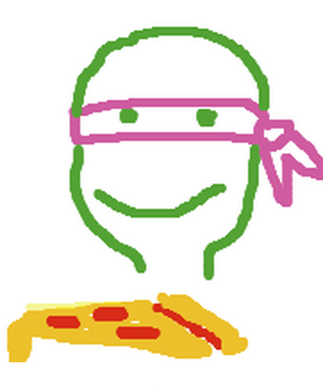 A portrait of me as a Ninja Turtle, drawn by my fiance.