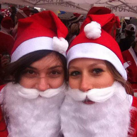 Carly and I have been friends for over 20 years. We've also been known to run the occasional 5k while wearing Santa suits.