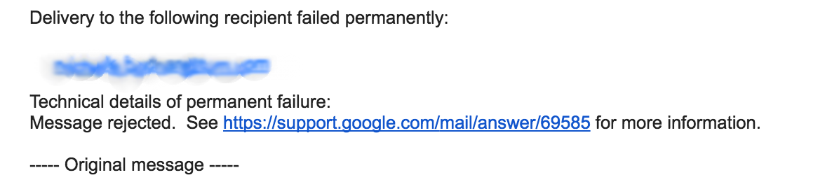 Email address blurred to protect the innocent.