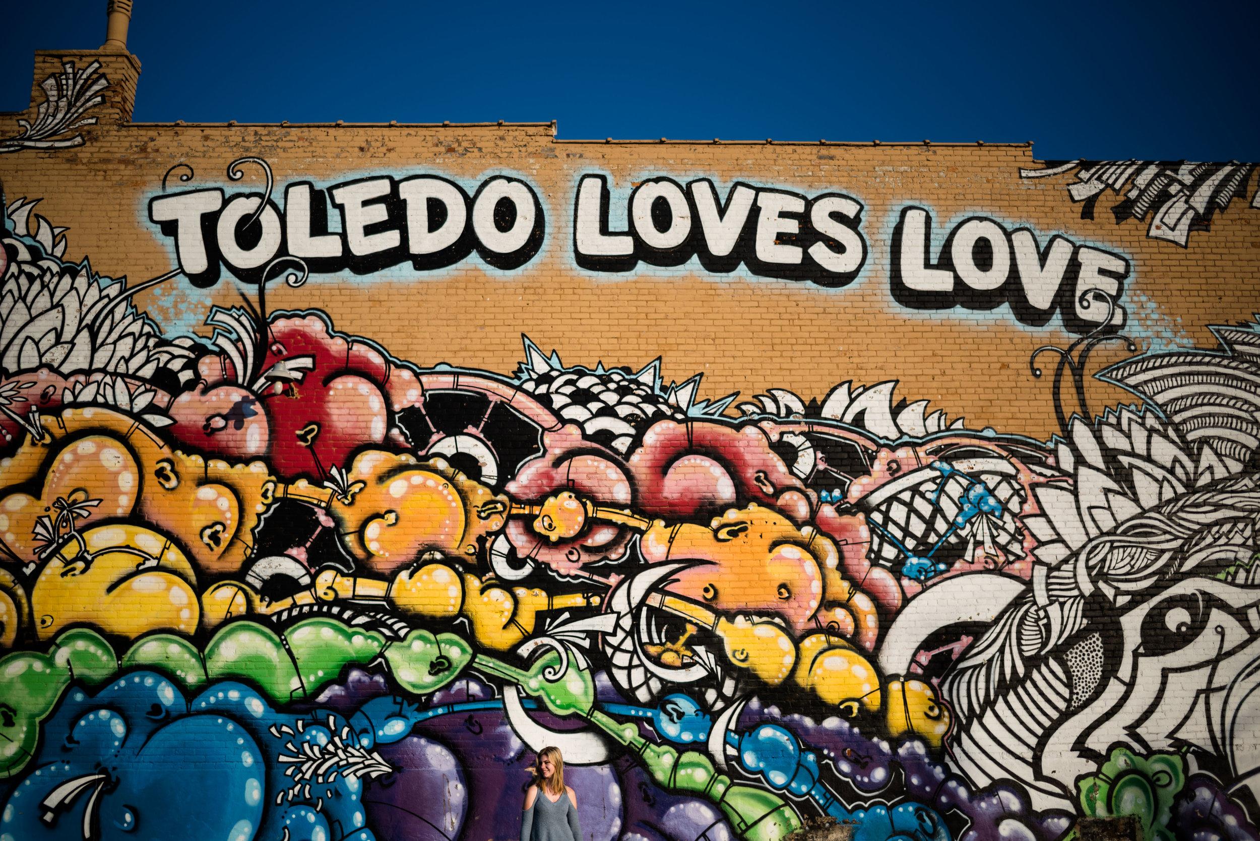 toledo loves love mural