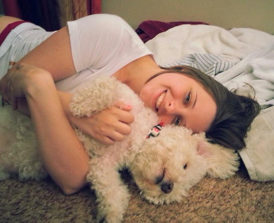 """5. Bubbles - I acquired her from a roommate who no longer """"wanted"""" her almost 10 years ago. She is the sweetest dog and a Bichon poodle mix. Almost 13 years old and is my baby"""