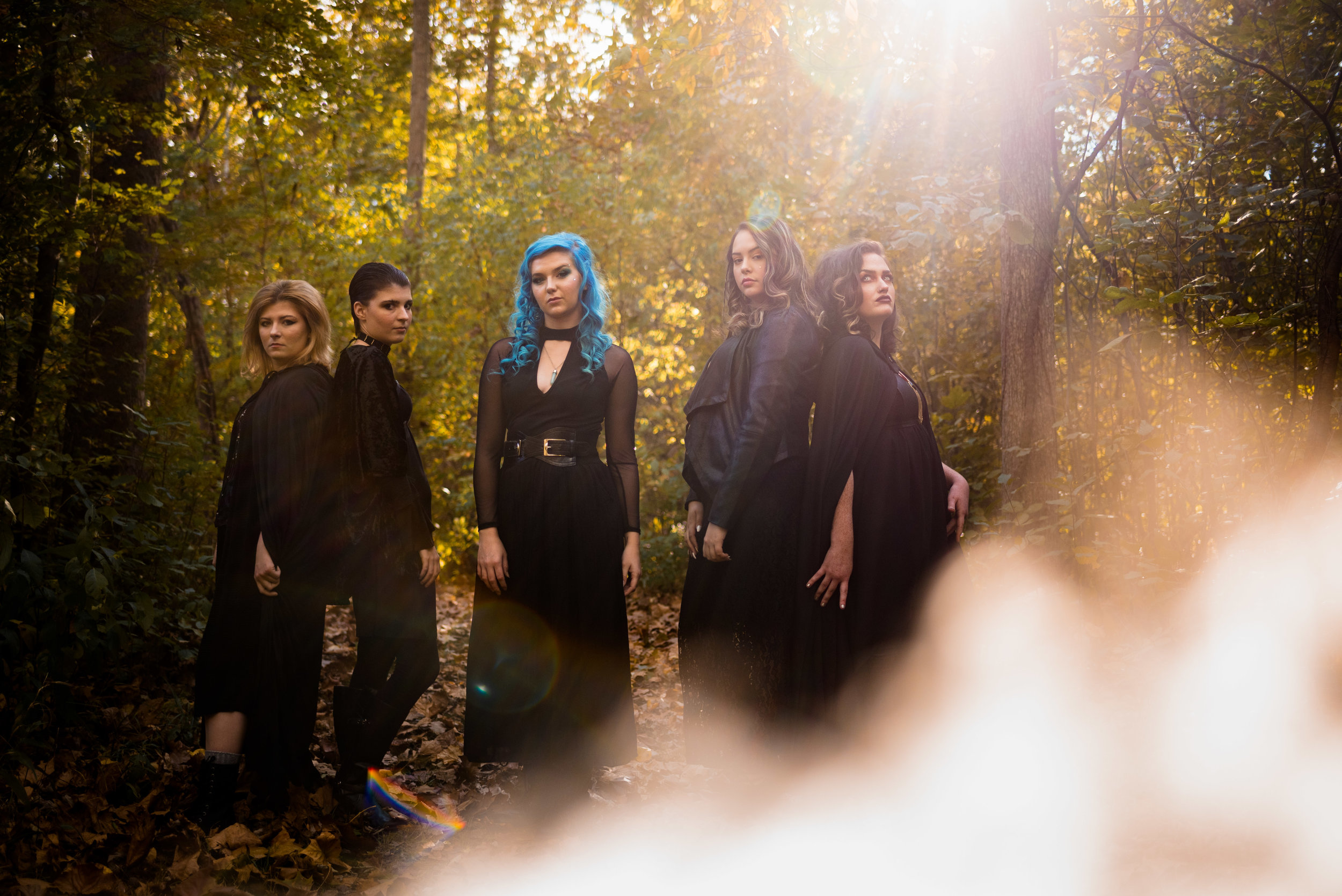 Halloween Themed Photo Shoot Five Witches Rebecca Trumbull Photography