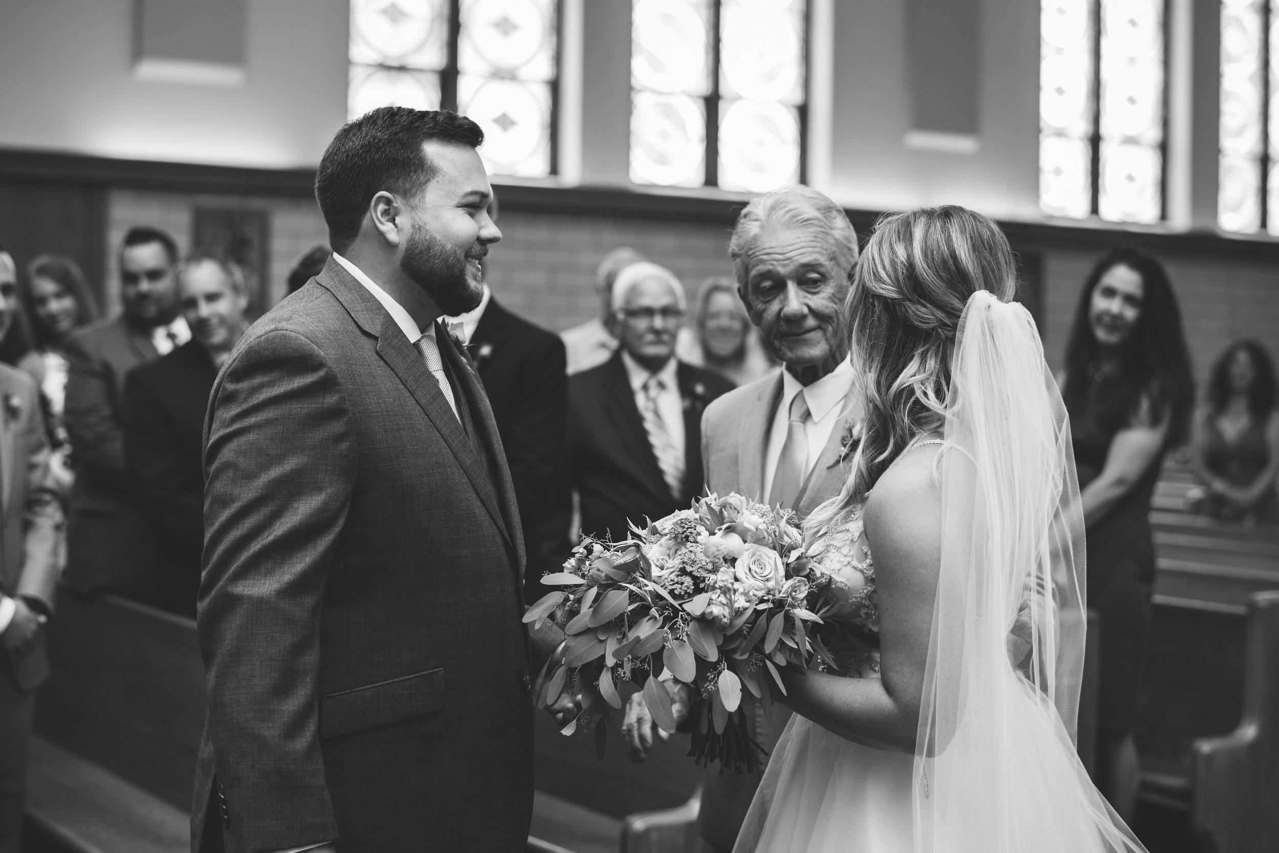 toledo ohio church wedding photographer