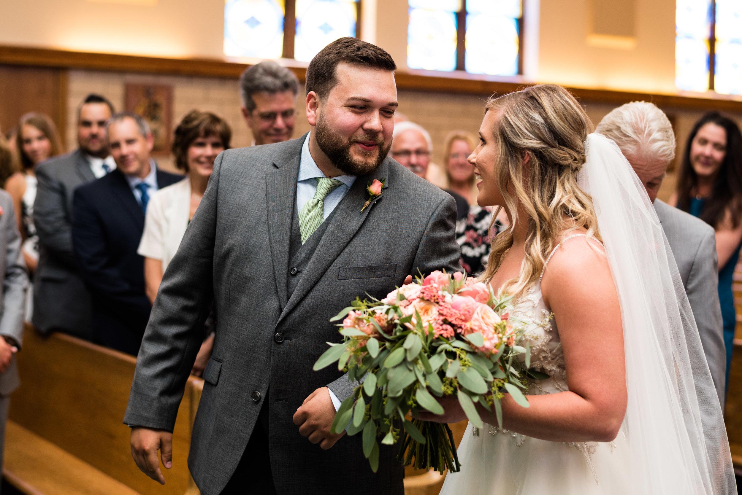 toledo ohio church wedding photography