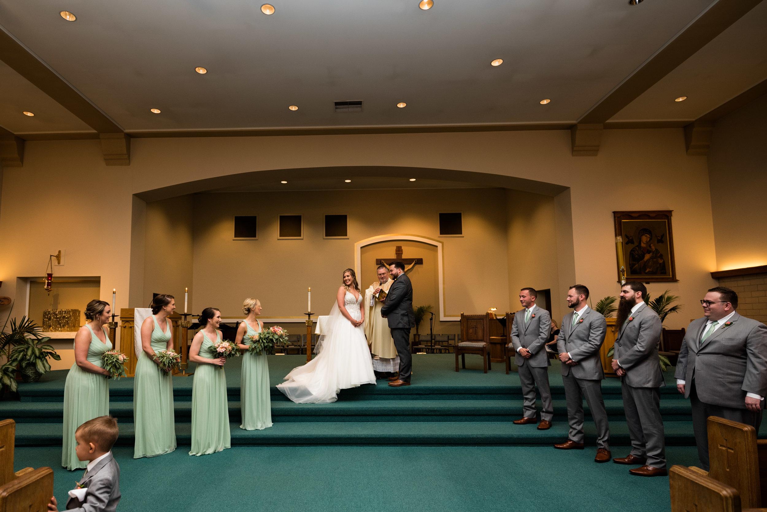 toledo wedding ceremony photography