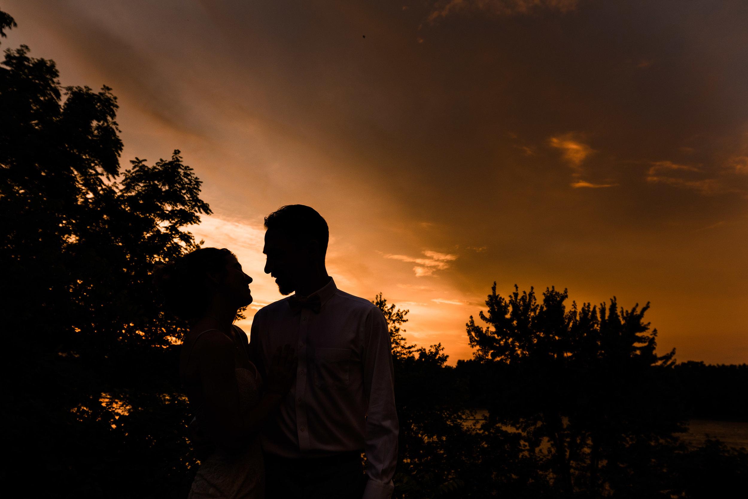 sunset wedding photos ohio