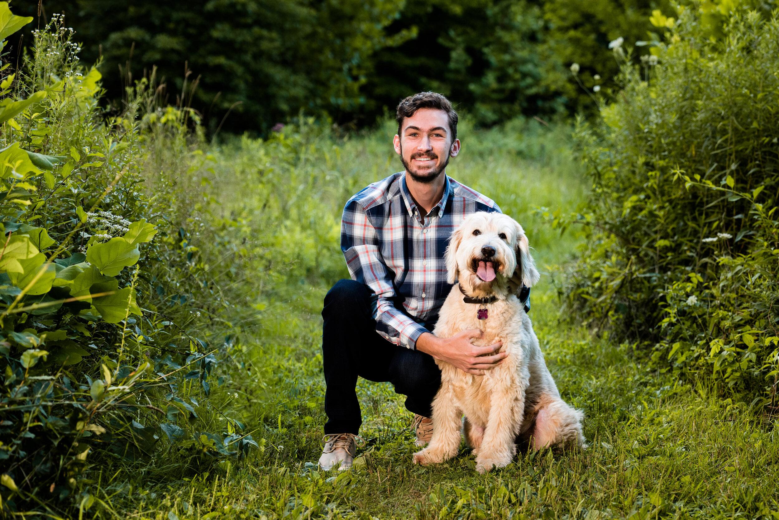 toledo senior photography with dog