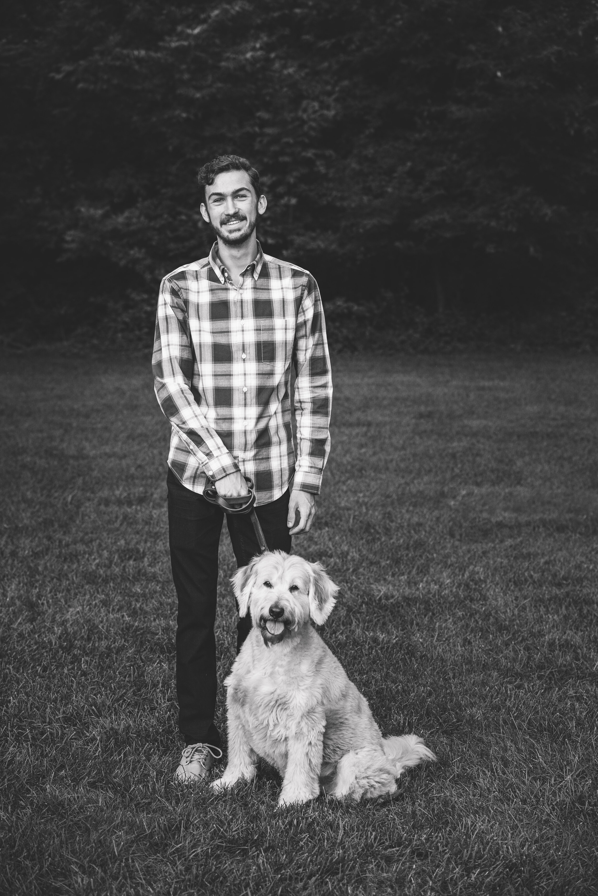 sylvania ohio senior photography with pet