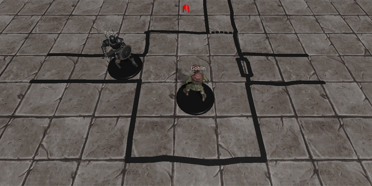 3D miniatures & a hand drawn map in the next version of 3D Virtual Tabletop