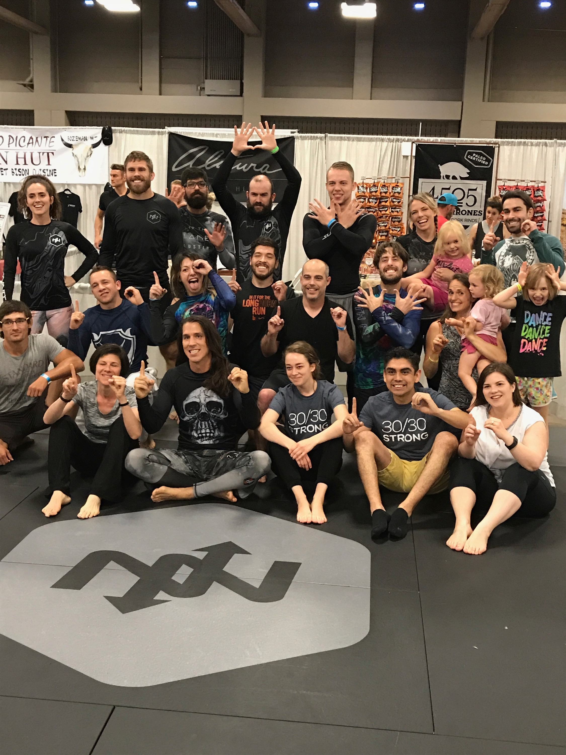 After my awesome first BJJ session!