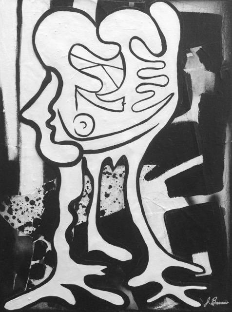"""The Kiss"" artist Josephine Barreiro"