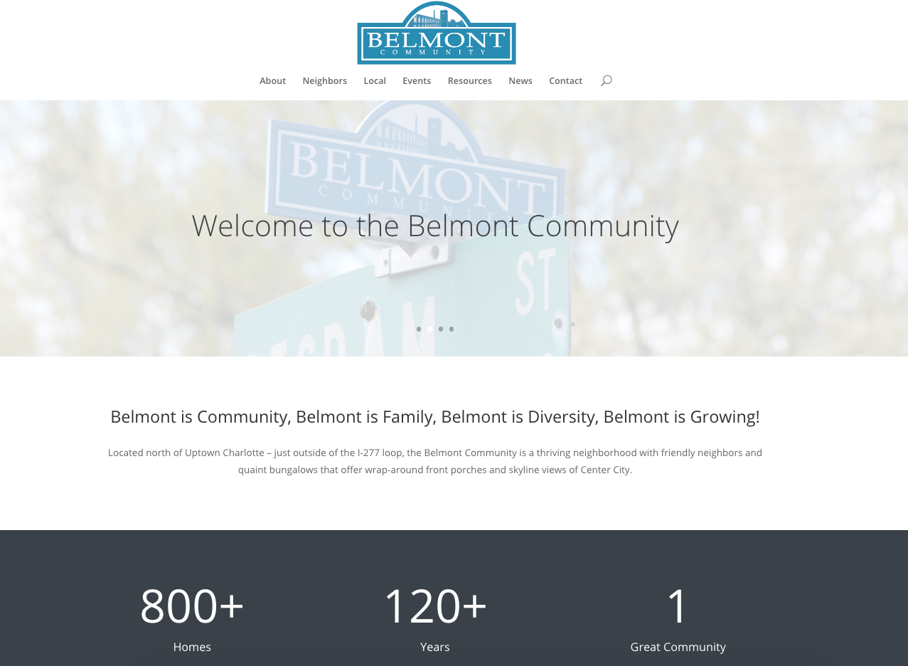 Belmont Community Website