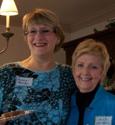 Susan Booker (Orange County Chapter President) and Jackie Rettberg