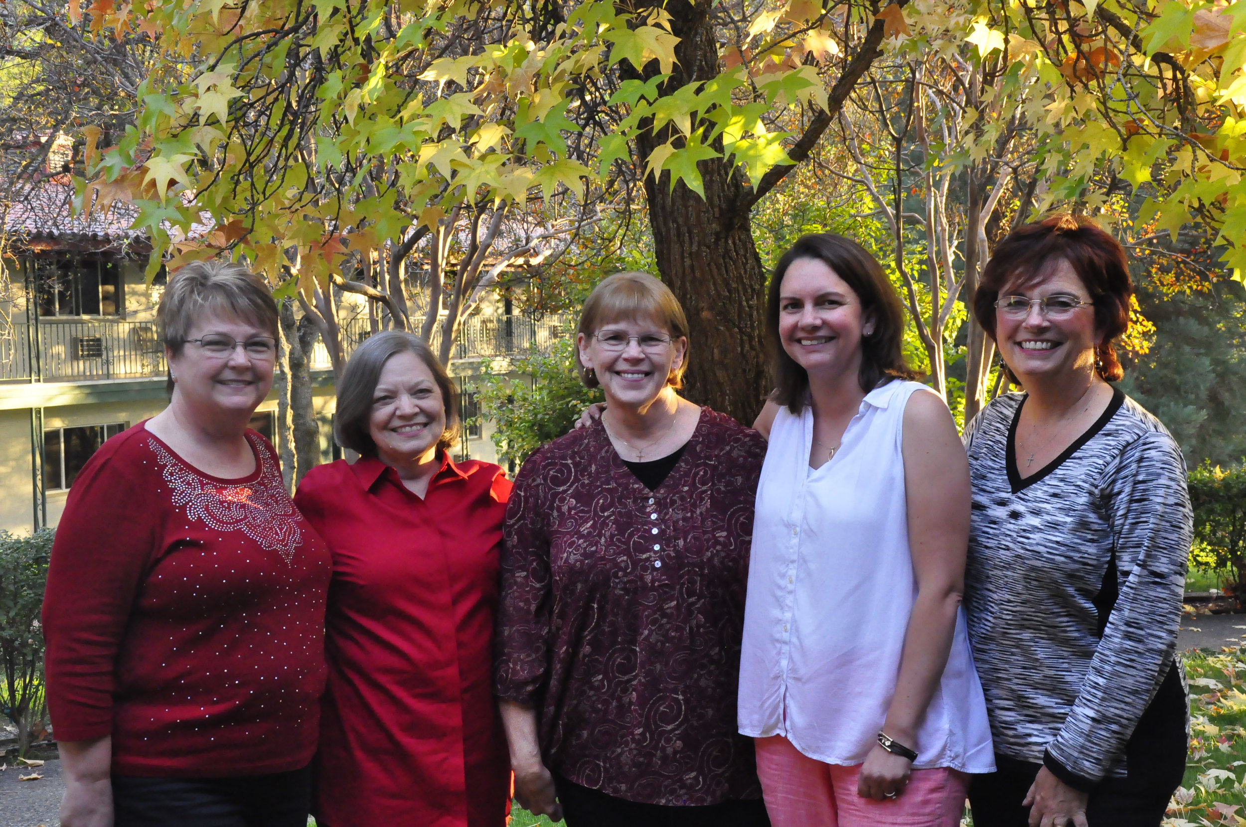 Northern Calif. Springs Team - 10th Anniversary Celebration (2016): Darlene Derby, Betsy Stowe, Elaine Russell, Christy Wold, Luann Budd