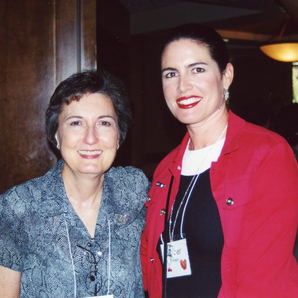Cynthia Heald, conference speaker (2001) and Amber