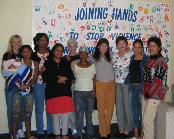 Newim team visits a womens shelter in Cape Town, 2005