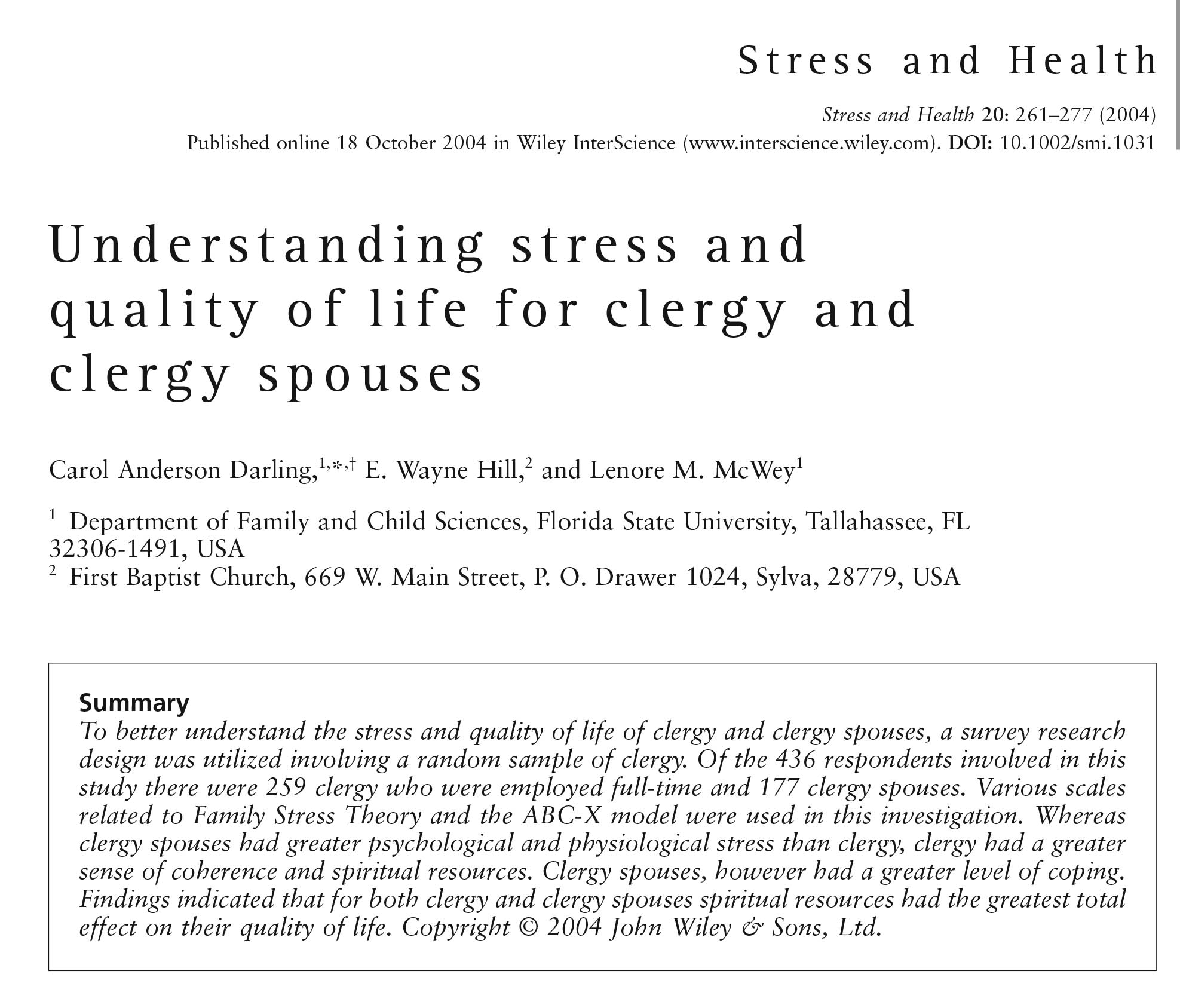 Darling- Understanding stress and quality of life for clergy and clergy spouses-COVER.jpg