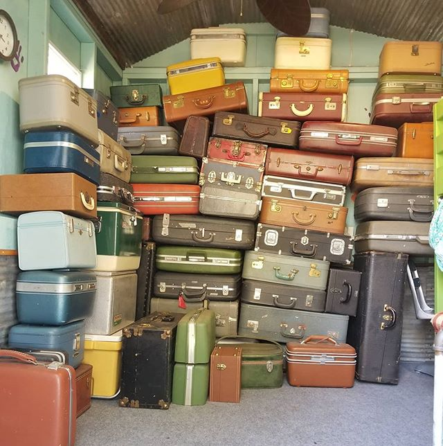 Doing a little suitcase organizing and inventory. I sure hope the ones on the bottom aren't the first ones needed😀 #thevintagetin #suitcasespeaker #boombox #bluetooth #portable #coolstuff #rechargeable #vintage #repurposed #retro #reclaimed #mnmade  #mnmaker #lovemyjob #minnesota #patina #mnstatefair