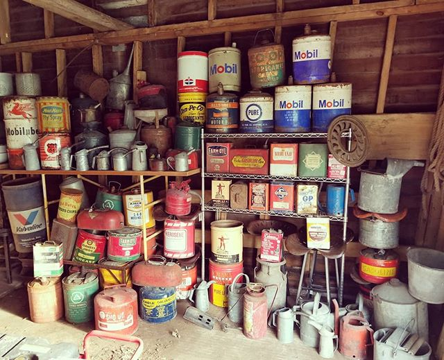 Did some shed exploring and rounded up our cans. Found all kinds of treasures I forgot we had.  Back to creating tomorrow!!! #thevintagetin #shoplocal #mnmaker #mnmade #lovemyjob #coolstuff #custom #retro #reclaimed #repurposed #upcycled #recycled #reused #oilcan #gascan #tincans #rustygold