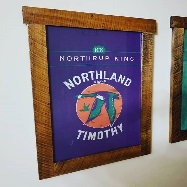 The seed bags are framed and delivered. Happy Mother's Day to all the moms out there. #thevintagetin #shoplocal #mnmaker #mnmade #lovemyjob #coolstuff #custom #customorder #mothersdaygifts #northrupking #seedbag #barnwood #frames #repurposed #retro #reclaimed #reused #upcycled #recycled #madeinmn #minnesota