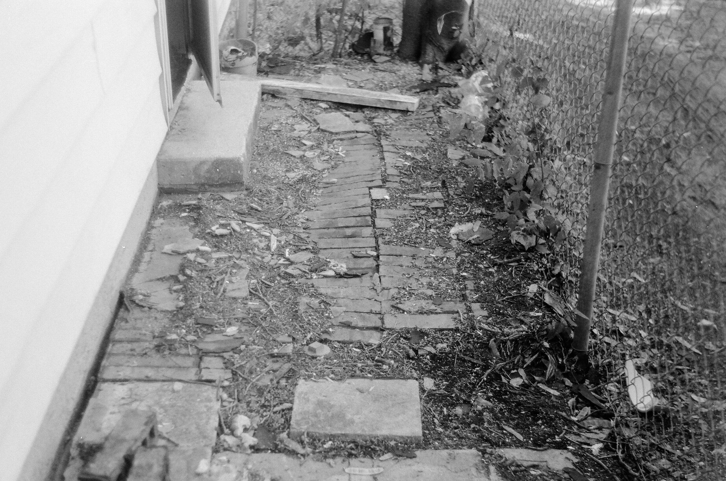 Brick Walkway - 1980's Zorki 4 | Ilford HP5