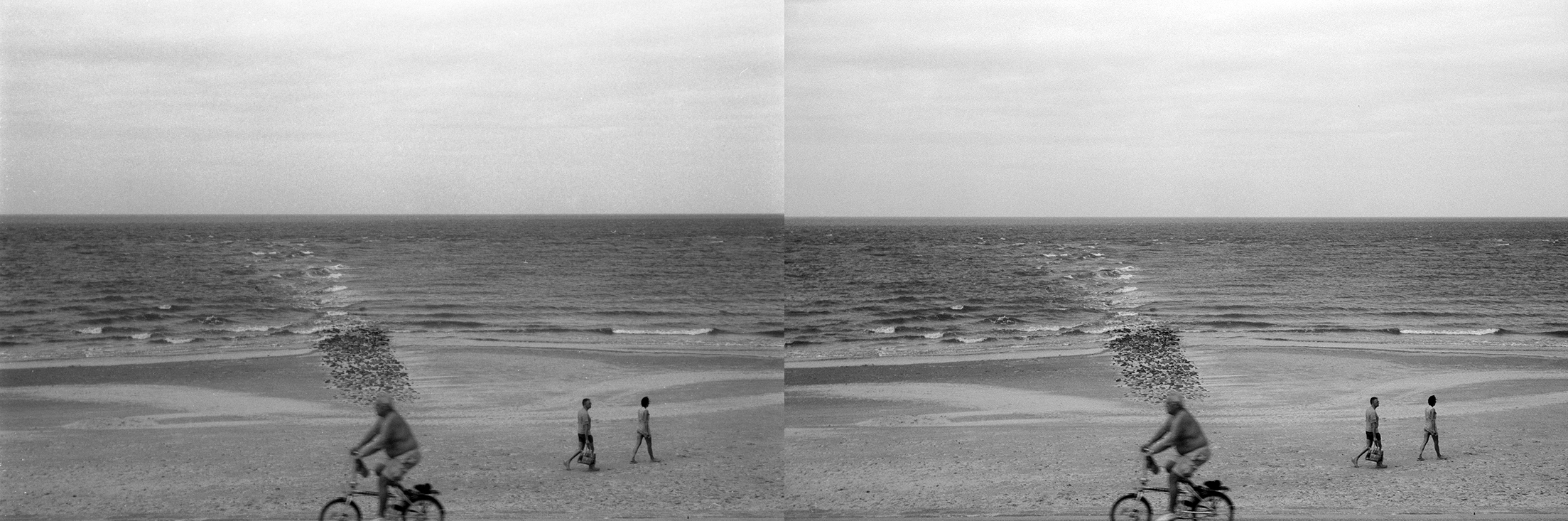 As you can see - the image on the left scanned with a prosumer CCD scanner is a lot less sharp with much less dynamic range than the one on the right scanned with a drum scanner. The left image was actually slightly sharpened in post, while the right one had absolutely no sharpening done to it. This is again due to the fact that a CCD scanner is basically taking a picture of your image through a lens and sensor, not unlike taking a digital camera. Why the drum scanner scan is so much sharper and clearer is the least-optics on the signal path, better mechanics and that it uses PMT's.