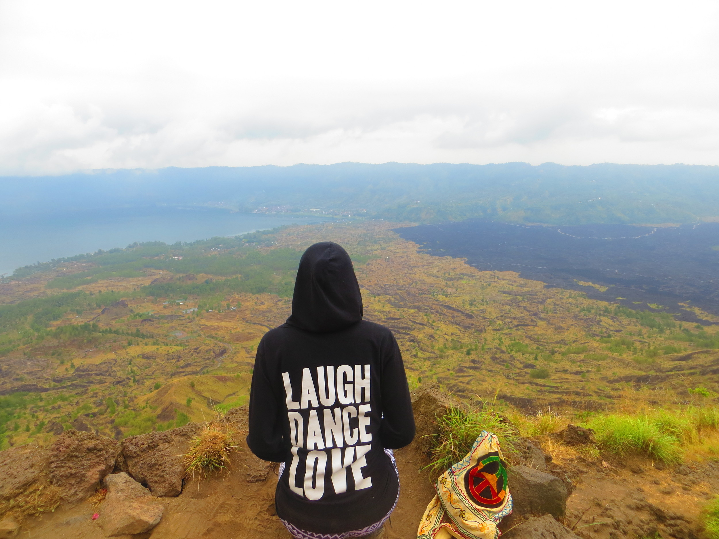 View from atop Mount Batur