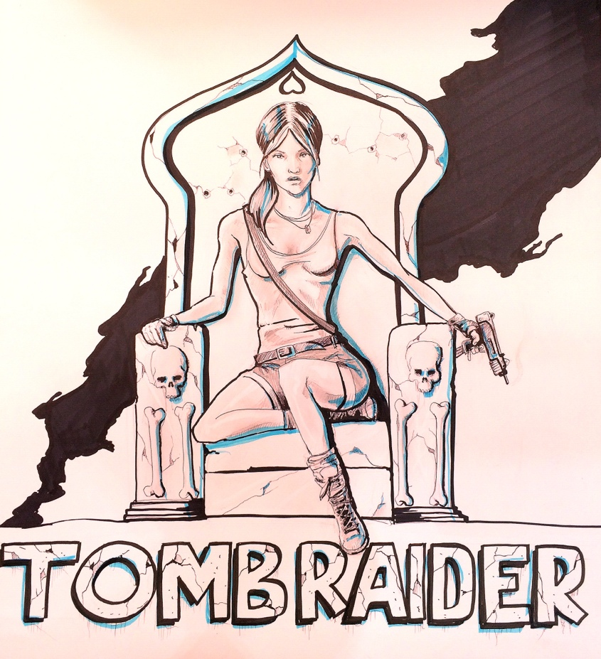 88655162486 - tomb raider art i did for work marker pencil.jpg