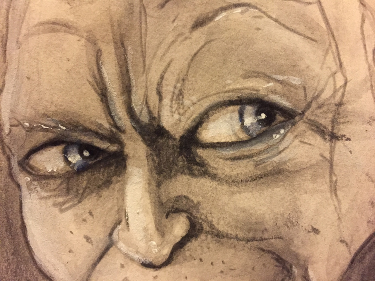 103547776006 - gollum watercolour and black pencil it hits the_2.jpg