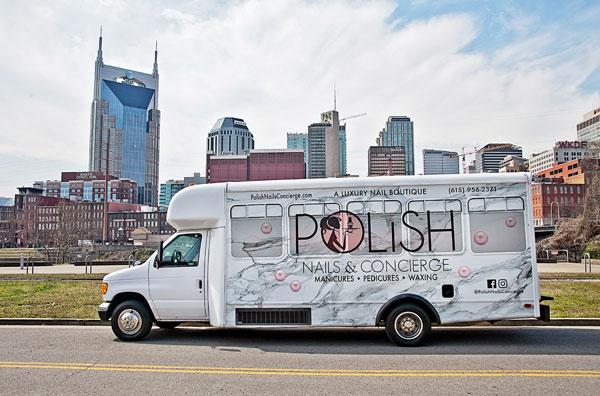 Polish Nails and Concierge Mobile Bus