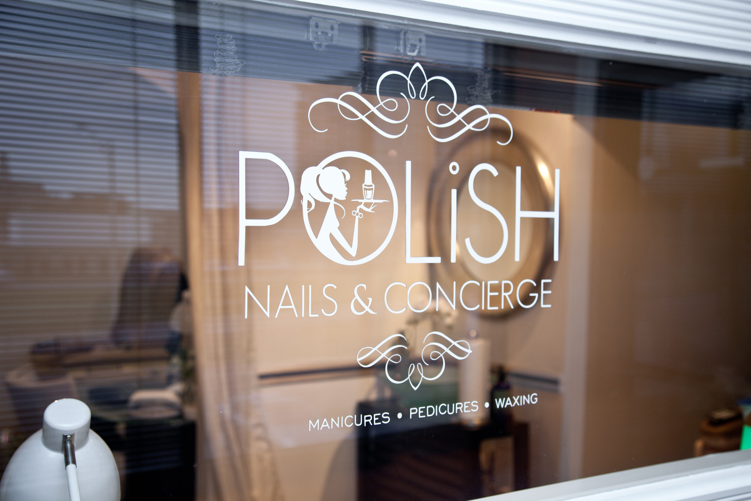 Polish Nails and Concierge Studio Window
