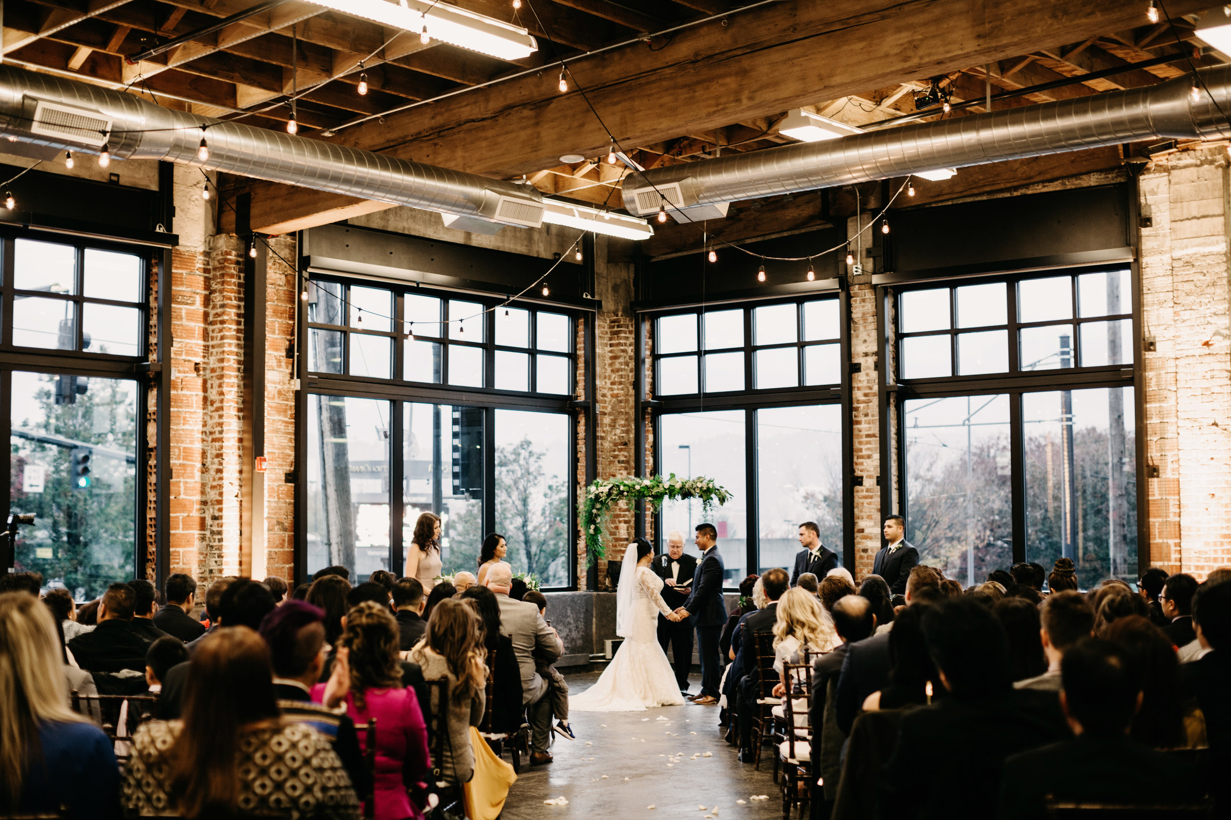 Indoor  : natural light coming from a window is ideal for indoor ceremonies, avoid mixed lighting by turning off indoor lights if possible so that the ceremony doesn't look like a mix of lots of blue and yellow! If you can't use natural light only, make sure the indoor lights are bright so that the photos can have the best quality possible!