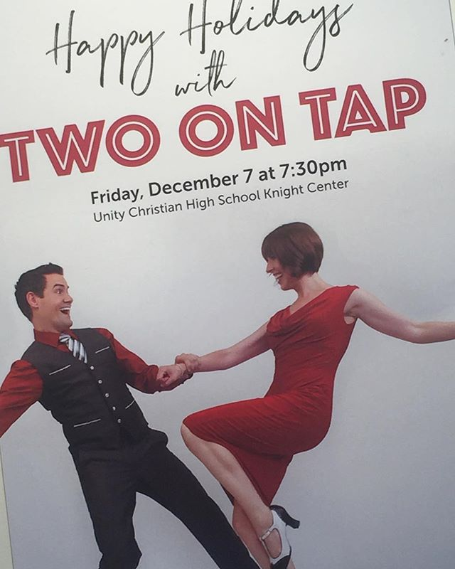 Excited to be performing our Happy Holidays show with a bevy of lovely local dancers in #OrangeCity #Iowa tonight! . . . . . #twoontap #singing #nyc #manhattan #songanddance #dance #tap #tapdance #tapping #broadway #gershwin #berlin #jazz #standards #singinggroups #instasinging #music #instamusic #musician #musicians #singers #tappers